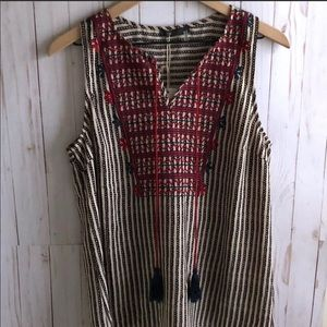 NWT THML Tank Top Embroidered Blouse